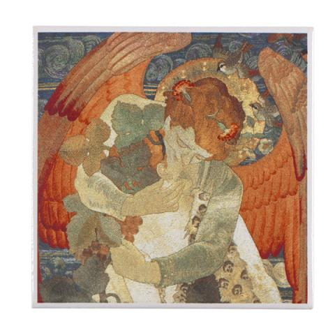 The Victory by Phoebe Anna Traquair ceramic coaster