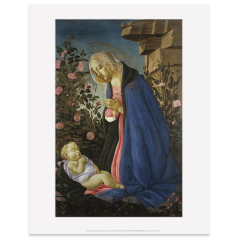 The Virgin Adoring the Sleeping Christ Child Sandro Botticelli Art Print