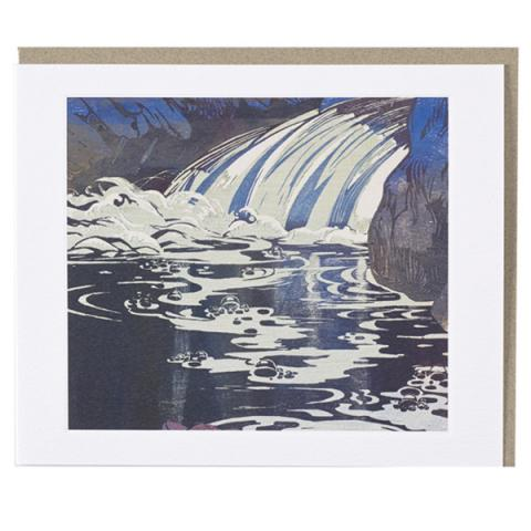 The Waterfall by Mabel Royds single greeting card