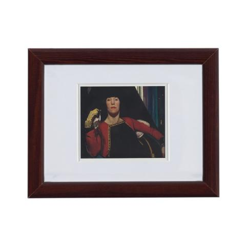 The Yellow Glove by James Cowie ready to hang small framed print