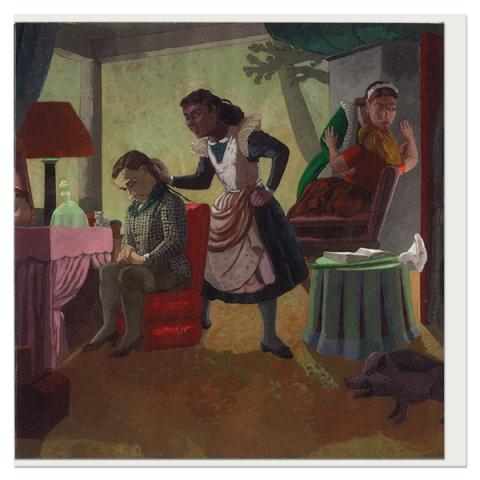 The maids by Paula Rego greeting card