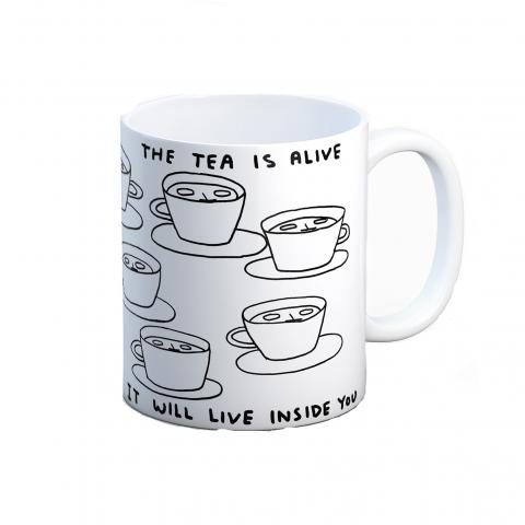 The tea is alive by David Shrigley mug