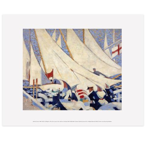 The Regatta Stanley Cursiter Art Print