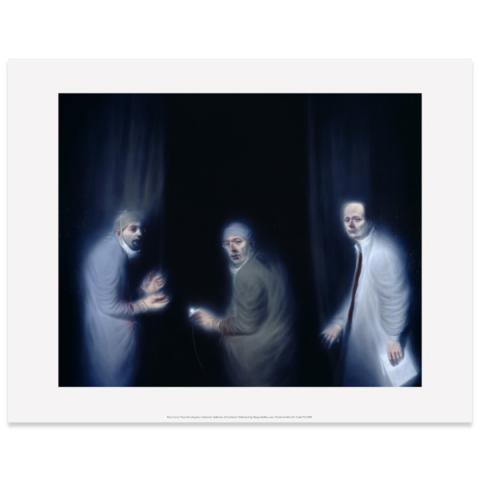 Three Oncologists Ken Currie Art Print