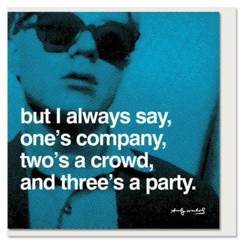 Three's a Party Andy Warhol Greeting Card