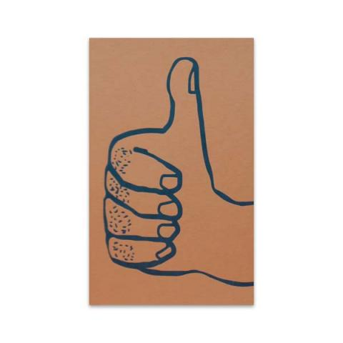 Thumbs up dark orange mini greeting card