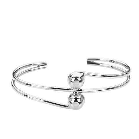 Silver ball 3/4 bracelet