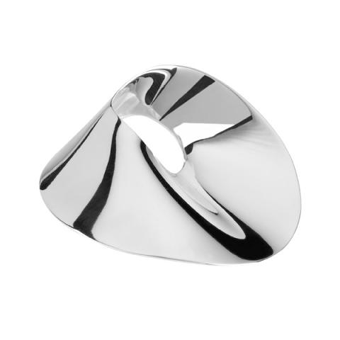 Wave design silver brooch