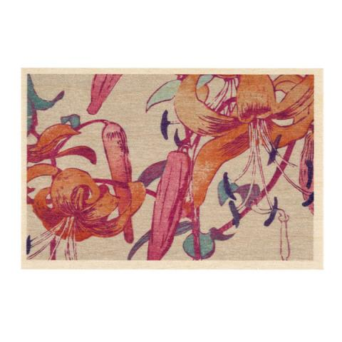 Tiger Lilies by Mabel Royds wooden postcard