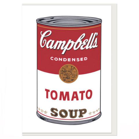 Tomato Soup by Andy Warhol greeting card