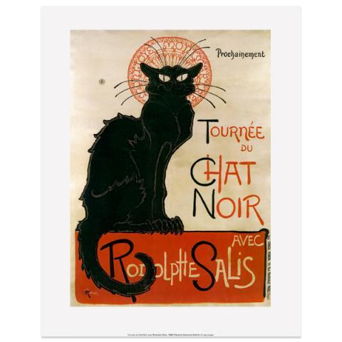 Le Chat Noir Theophile Steinlen Art Print