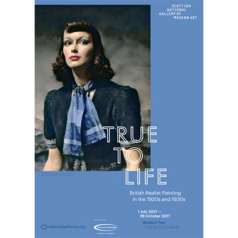 True to Life By the Hills Gerald Leslie Brockhurst Exhibition Poster