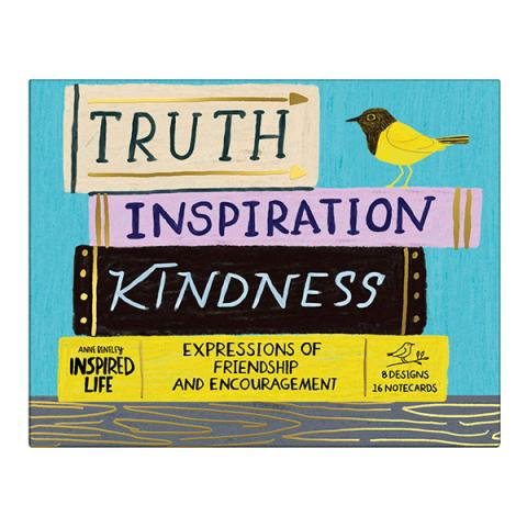 Truth, Inspiration, Kindness Greeting assortment notecard box (20 cards)