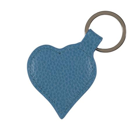 Leather Heart Keyring Turquoise