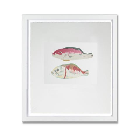 Two Snapper by Elizabeth Blackadder limited edition framed print