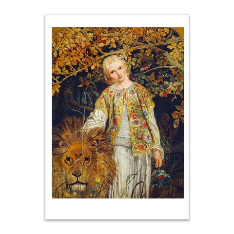 Una and the Lion by William Bell Scott A5 postcard