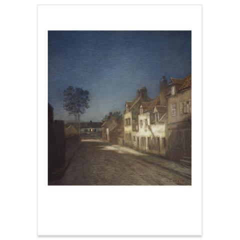 Une Rue le Soir [A Village Street at Evening] by Jean-Charles Cazin poster print