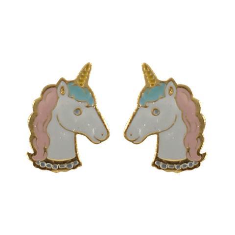 Acorn & Will Unicorn Enamel Earrings