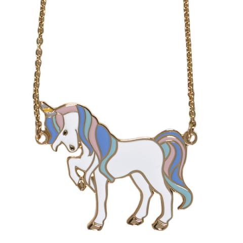 Acorn & Will Unicorn Pastel Necklace