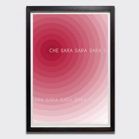 Untitled (Che Sara Sara Sara), 2019 by Charles Avery limited edition screen-print