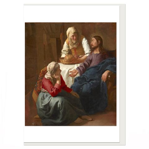 Christ in the House of Martha and Mary Johannes Vermeer Greeting Card