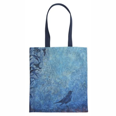 Mirror of the South (blue bird detail) by Victoria Crowe canvas reusable tote bag