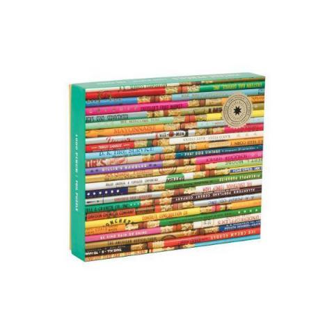 Vintage pencils foil stamped jigsaw puzzle (1000 pieces)