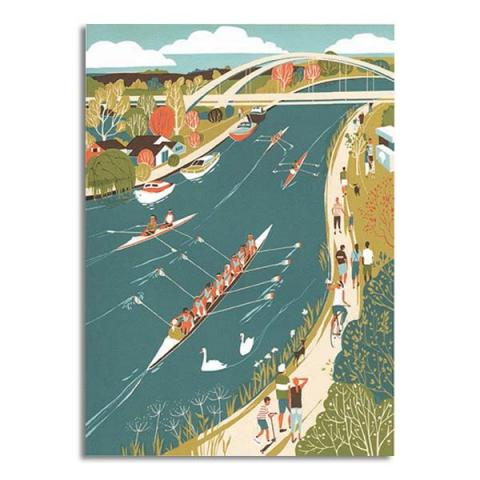 Walton Rowers greeting card