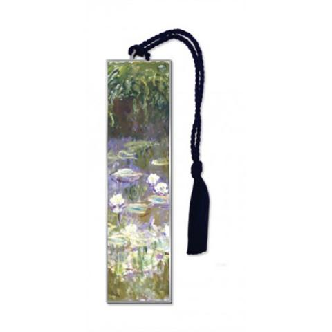 Water lilies brass bookmark