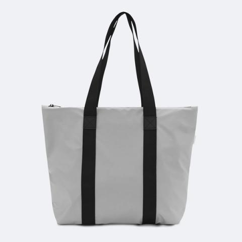 Waterproof stone grey tote bag
