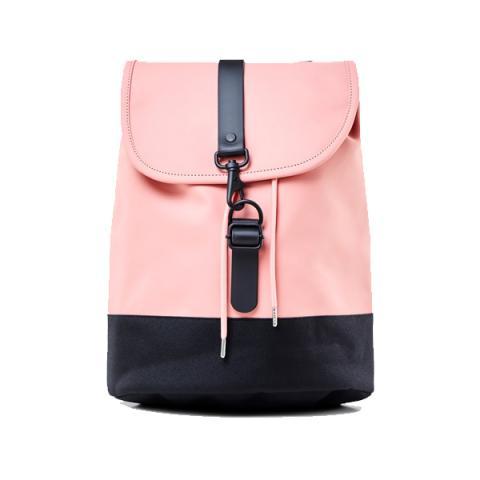 Waterproof light pink draw string backpack