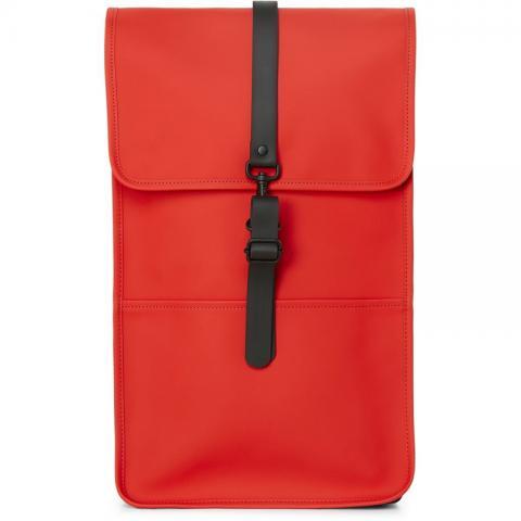 Waterproof red backpack