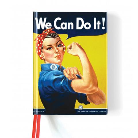 We Can Do It! WWII advertising poster A5 foil cover notebook