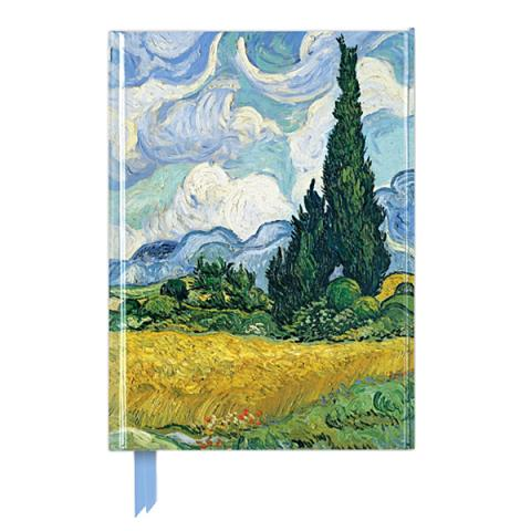 Wheat Field with Cypresses by Vincent Van Gogh A5 foil cover notebook