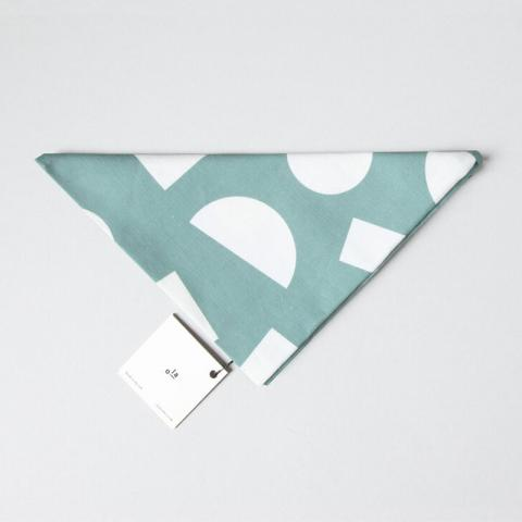 White and turquoise geometric reusable organic cotton gift wrap