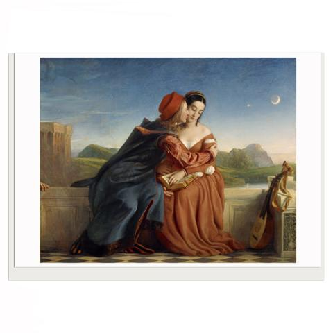 Francesca da Rimini William Dyce Greeting Card