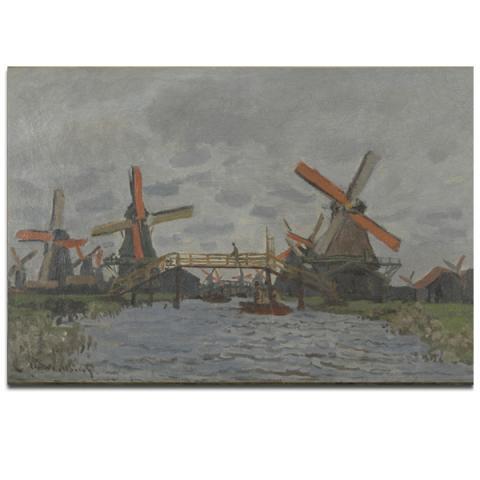 Windmills near Zaandam by Claude Monet poster print (40 x 30 cm)