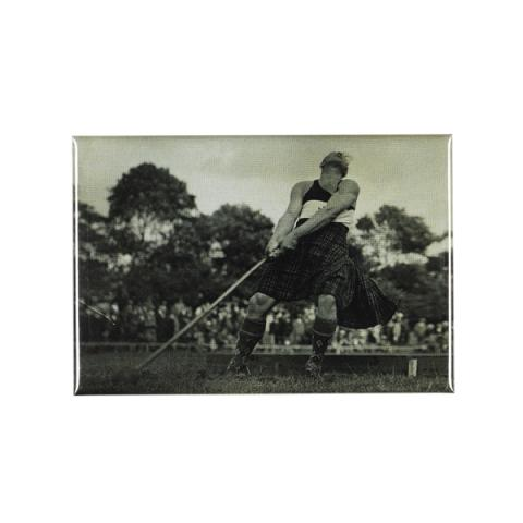 Winning hammer throw magnet