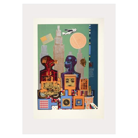 Wittgenstein in New York Eduardo Paolozzi Poster Print