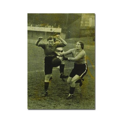 Women's charity football match magnetic notebook