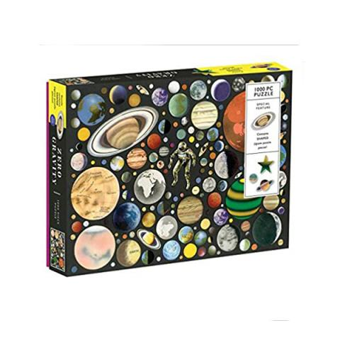 Zero gravity jigsaw puzzle with shaped pieces game (1000 pieces)