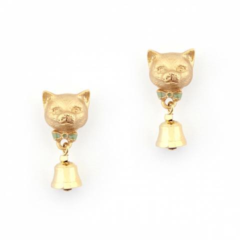 Bill Skinner Kitten Bell Earring studs