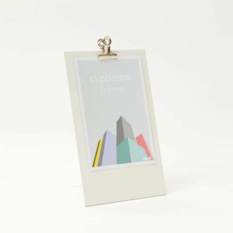 White clipboard frame