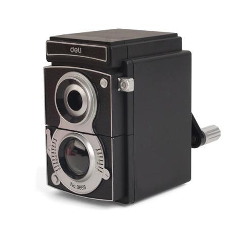 Black vintage camera pencil sharpener