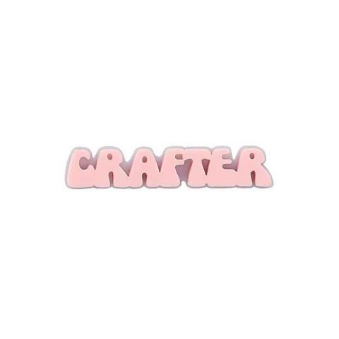 Crafter bubble font acrylic hair slide
