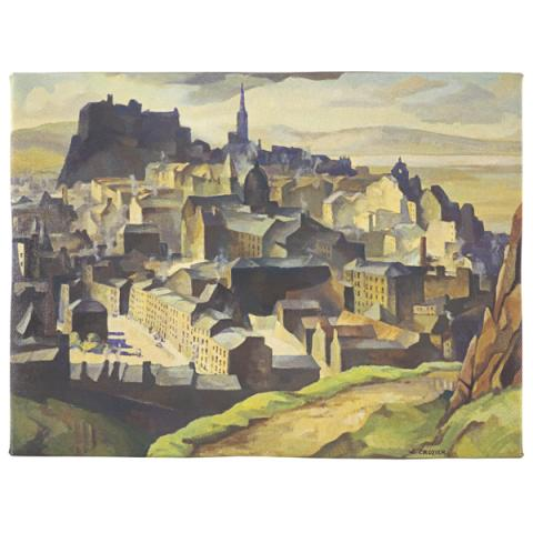 Edinburgh (from Salisbury Crags) by William Crozier ready to hang canvas print