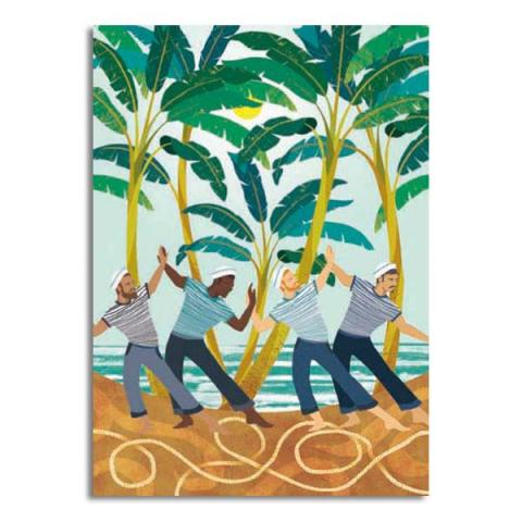 Dance of the sailors greeting card