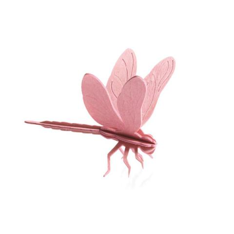 Light pink dragonfly flat pack construction kit