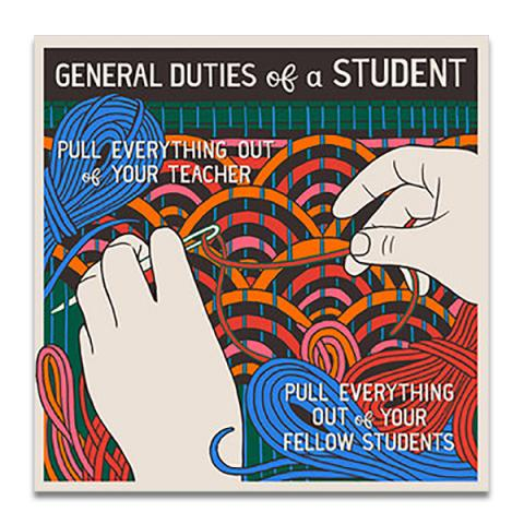 General duties of a student greeting card