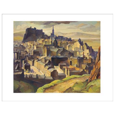 Edinburgh (from Salisbury Crags) William Crozier Art Print